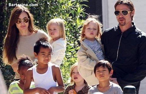 توافق آنجلینا جولی و برد پیت برای طلاق و حضانت فرزندان