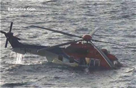 فیلم سقوط بالگرد شرکت نفت خزر یکشنبه 7 آذر 95 + عکس