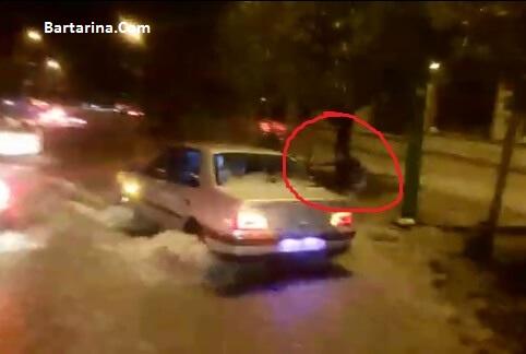دانلود فیلم غرق شدن دختر دانشجو در سیل خرم آباد داخل کانال