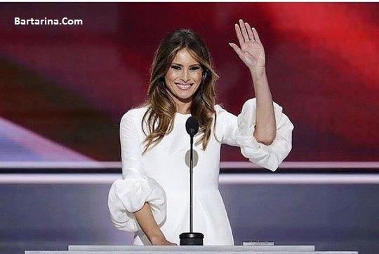 ملانیا ترامپ همسر دونالد ترامپ بانوی اول آمریکا شد + عکس