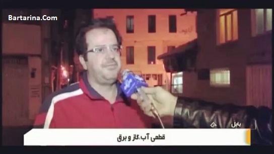 فیلم تذکر کارشناس هواشناسی به مجری اخبار تلویزیون برای گاز