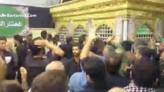 فیلم شعار مختار دمت گرم گفتن ایرانی ها کنار مزار مختار ثقفی