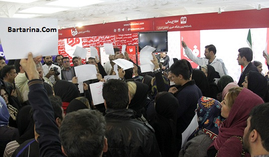 فیلم اعتراض متقاضیان مسکن مهر به سیف در نمایشگاه مطبوعات