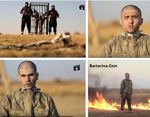 فیلم 18+ آتش زدن دو سرباز ارتش ترکیه توسط داعش در سوریه