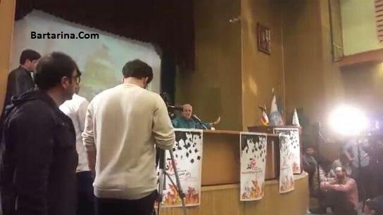 فیلم توهین حسن عباسی به رئیس جمهور دکتر روحانی در دانشگاه