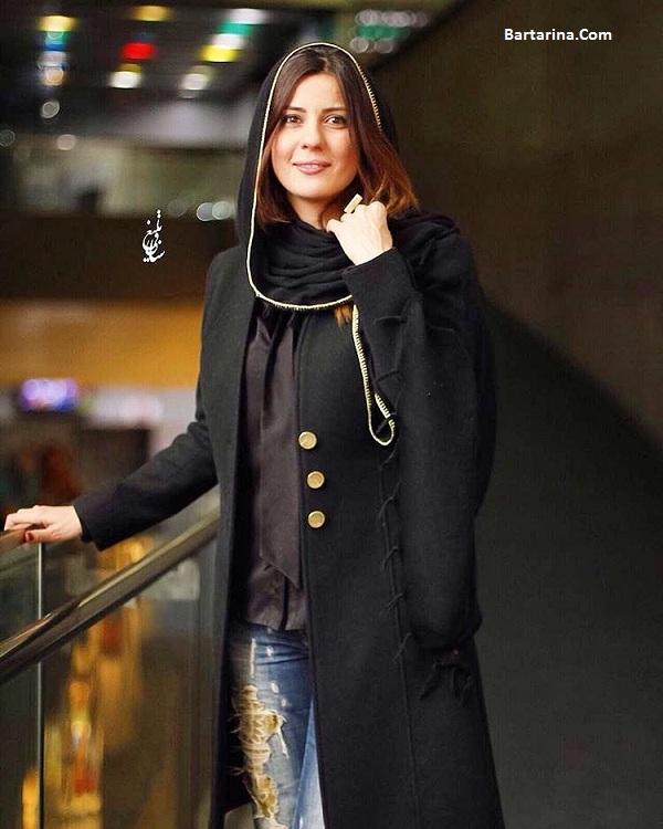 عکس سارا بهرامی در اکران فیلم گیتا با شلوار پاره در پردیس