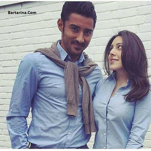 عکس جدید رضا قوچان نژاد و همسرش سروین بیات خواهر ساره بیات