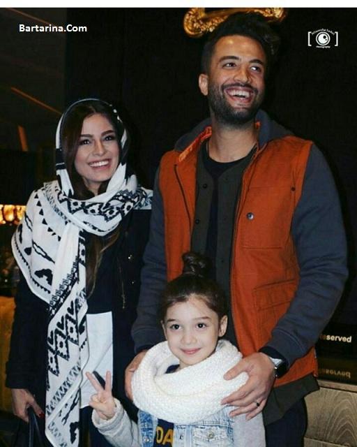 عکس های بنیامین و همسرش شایلی و بارانا در اکران سلام بمبئی