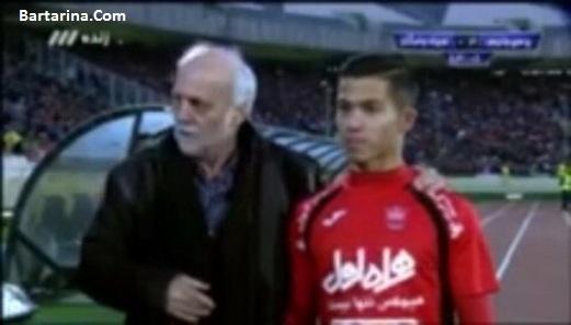 فیلم سوتی صادق محرمی جواد خیابانی و یوسفی در بازی پرسپولیس