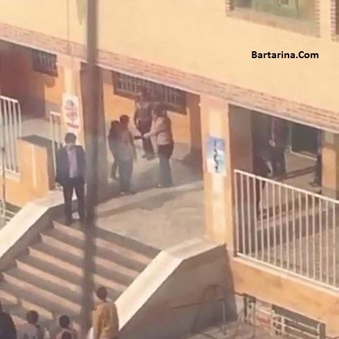 فیلم تنبیه چند دانش آموز با کمربند در مدرسه معلم شهریار