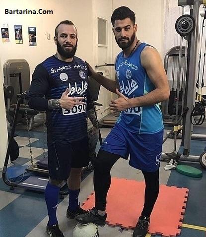 عکس جنجالی امیر تتلو با محمد حسین کنعانی بازیکن استقلال