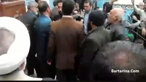 فیلم توهین به امیری معاون رئیس جمهور روحانی در نماز جمعه یزد
