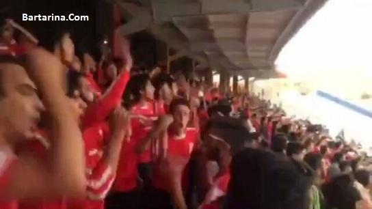 فیلم شعار مرگ بر فارس هواداران تراکتور در ورزشگاه تبریز