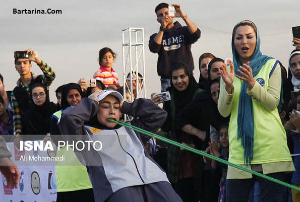 فیلم کشیدن 3 ماشین با دندان فائزه سرلک دختر 16 ساله اهوازی