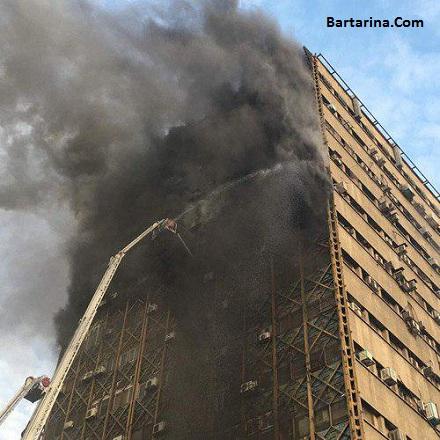 فیلم آتش سوزی در پاساژ پلاسکو تهران 30 دی 95 + آمار تلفات