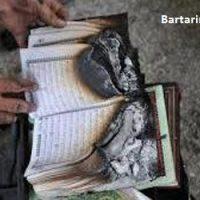 عکس های آتش زدن قرآن و مسجد در ورامین تهران ۲۸ دی ۹۵