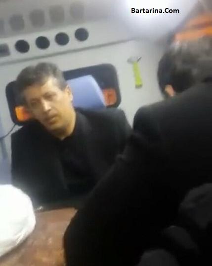 فیلم مهدی هاشمی در آمبولانس انتقال پیکر هاشمی رفسنجانی