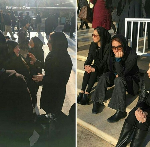 عکس مهناز افشار و بازیگران زن در تشییع شهدای آتش نشان پلاسکو