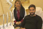 عکس جنجالی دکتر رها رادفر و بازیگران مرد در مطب دندانپزشکی