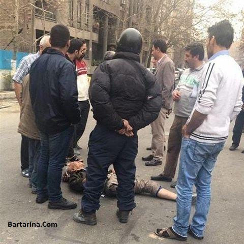 عکس زورگیری خشن از جانباز 65 درصد راننده تاکسی در تهران