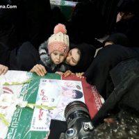 فیلم مراسم تشییع جنازه شهدای آتش نشان پلاسکو ۱۱ بهمن ۹۵