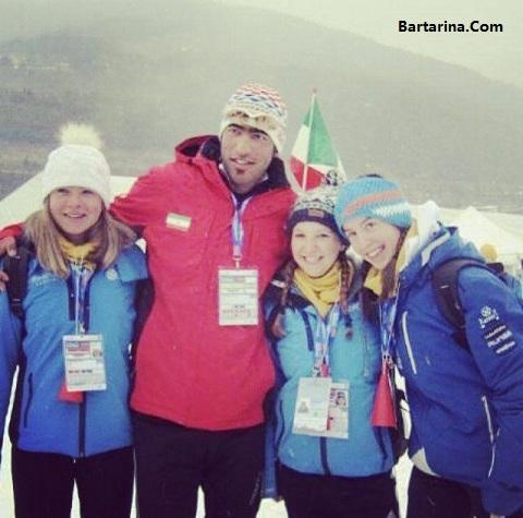 عکس جنجالی علیرضا مقدید اسکی باز ایرانی در فنلاند با زنان