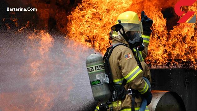 فیلم آتش سوزی در خیابان اشرفی اصفهانی تهران امروز 20 بهمن 95