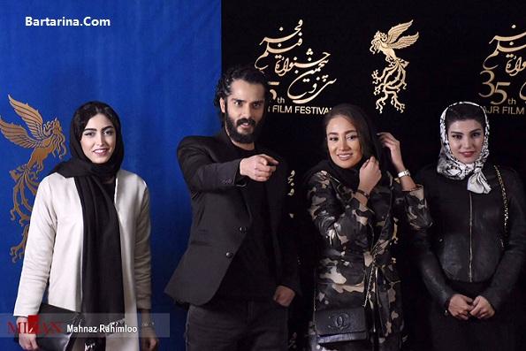 عکس مانتو و لباس ارتشی بهاره افشاری در جشنواره فیلم فجر 95