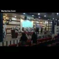 فیلم رقص زنان در دانشگاه پیام نور بجنورد خراسان شمالی روی سن