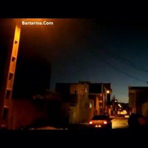 فیلم شی ناشناس شبیه بشقاب پرنده در آسمان پاوه و خرم آباد