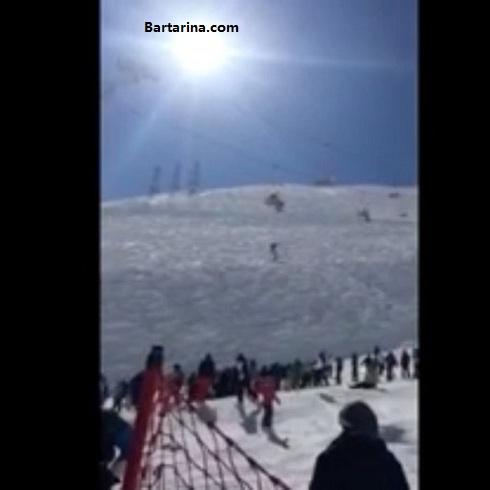 فیلم سقوط دختر اسکی باز از تله سی یژ دربندسر تهران