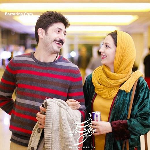 عکس حدیث میرامینی و همسرش مجتبی رجبی در جشنواره فجر 95