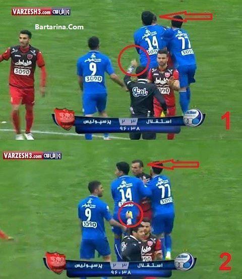 اخراج سید جلال حسینی در پایان بازی دربی 84 دیروز 24 بهمن 95