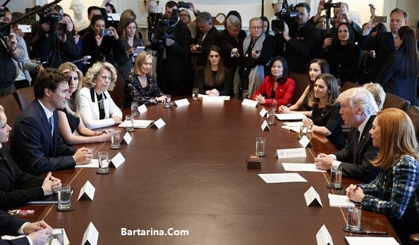 عکس دلبری ایوانکا ترامپ برای نخست وزیر جوان کانادا