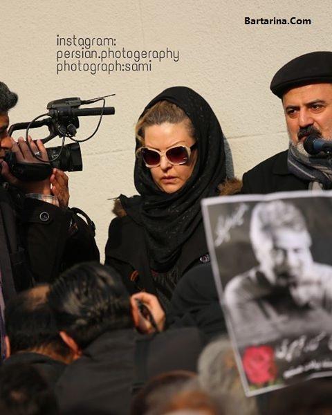 عکس بازیگران زن و مرد در مراسم تشییع حسن جوهرچی 17 بهمن 95