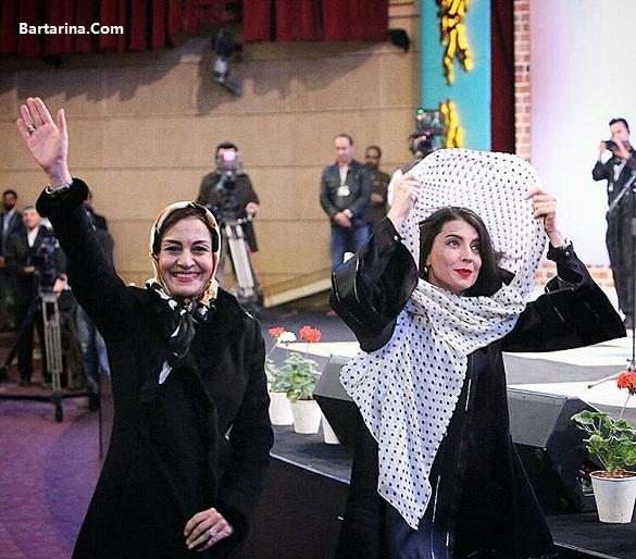 عکس بی حجاب لیلا حاتمی در اختتامیه جشنواره فیلم فجر 95