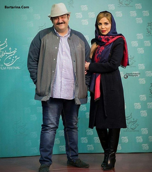 عکس مهران غفوریان و همسرش در جشنواره فیلم فجر 95
