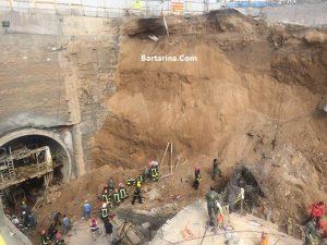 فیلم ریزش تونل مترو قم + کشته های فرو ریختن تونل مترو قم