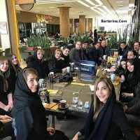 فیلم برگزاری مراسم ختم پدر نیوشا ضیغمی با حضور هنرمندان