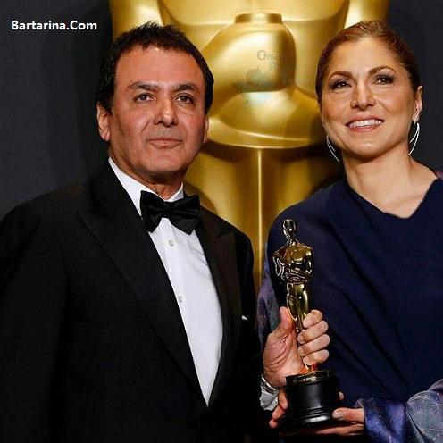 فیلم اهدای جایزه اسکار فروشنده اصغر فرهادی به انوشه انصاری