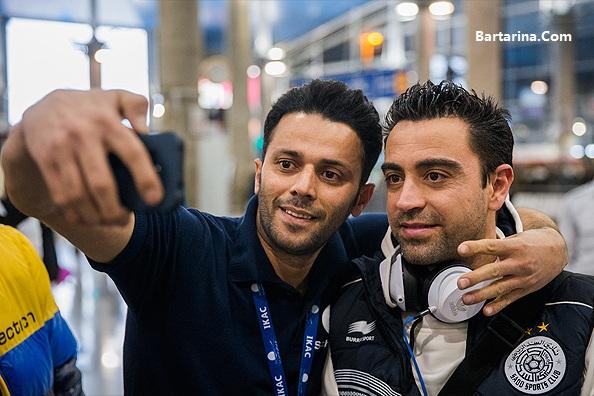 عکس های سلفی ژاوی بازیکن تیم السد قطر در تهران ایران