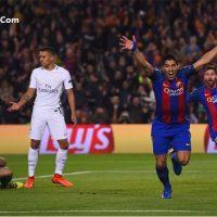 فیلم گل های بازی بارسلونا پاری سن ژرمن با نتیجه ۶ بر ۱ دیشب