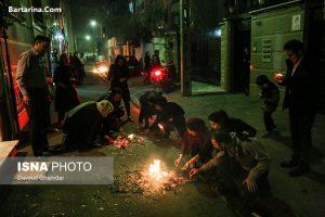 عکس جشن و رقص مردم در شب چهارشنبه سوری 24 اسفند 95 + فیلم