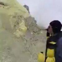 فیلم دهانه قله دماوند و فعال شدن آتشفشان دماوند ۱۲ اسفند ۹۵