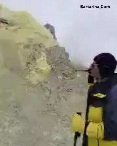 فیلم دهانه قله دماوند و فعال شدن آتشفشان دماوند 12 اسفند 95