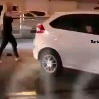 فیلم قمه کشی دختر جوان در خیابان های تهران + درگیری