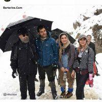 عکس جنجالی روحانی با دختران بی حجاب در کوهنوردی تهران