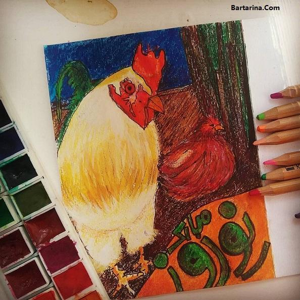 کارت پستال تبریک عید نوروز 96 + عکس نوشته تبریک سال خروس
