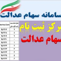 سایت سامانه سهام عدالت اسفند ۹۵ + جدول زمانبندی مراجعه