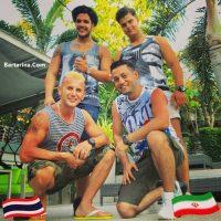 عکس امین حیایی رضا عطاران با شلوارک و لباس ناجور در تایلند